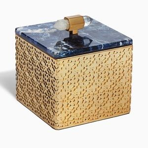 Kendra Scott Small Filigree Box Blue Soladite